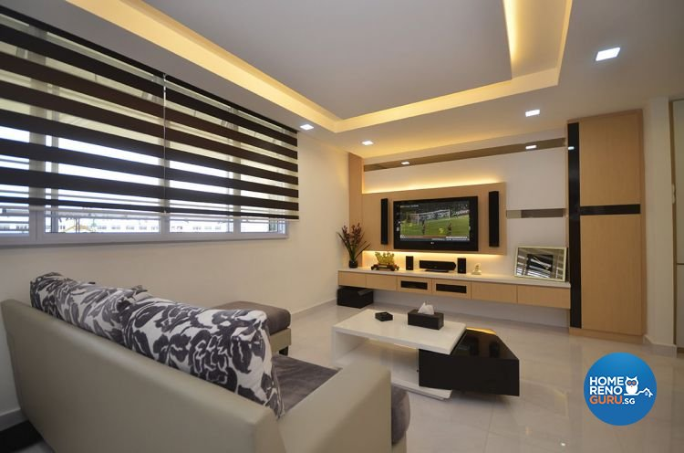 Minimalist Design - Living Room - HDB 4 Room - Design by DreamCreations Interior Pte Ltd