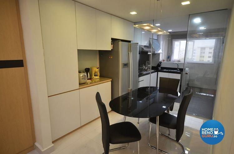 Minimalist Design - Dining Room - HDB 4 Room - Design by DreamCreations Interior Pte Ltd