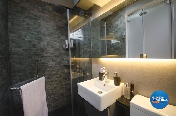 Minimalist Design - Bathroom - HDB 4 Room - Design by DreamCreations Interior Pte Ltd