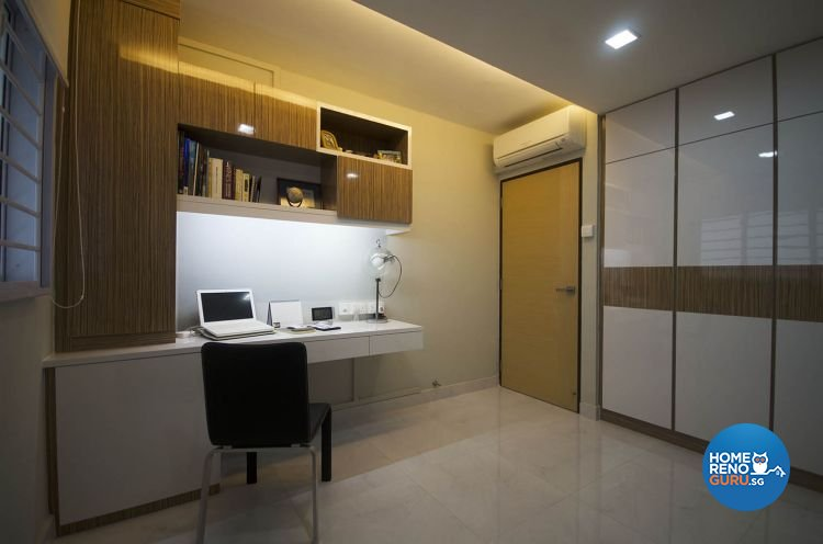 Minimalist Design - Study Room - HDB 4 Room - Design by DreamCreations Interior Pte Ltd