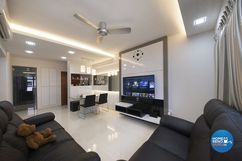 Minimalist, Modern, Tropical Design - Living Room - HDB 4 Room - Design by DreamCreations Interior Pte Ltd