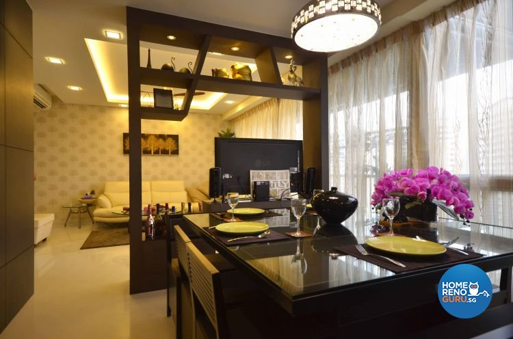 Contemporary, Modern Design - Dining Room - Condominium - Design by DreamCreations Interior Pte Ltd