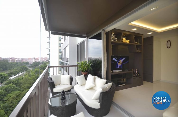 Contemporary, Modern Design - Balcony - Condominium - Design by DreamCreations Interior Pte Ltd