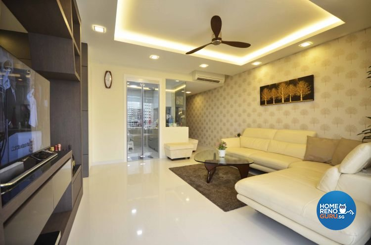 Contemporary, Modern Design - Living Room - Condominium - Design by DreamCreations Interior Pte Ltd