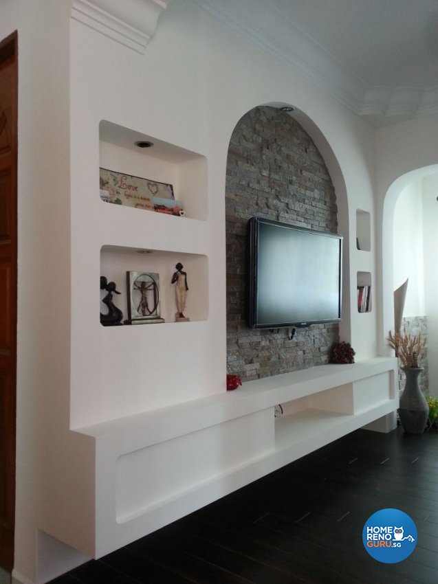 Classical, Modern, Retro Design - Living Room - HDB 5 Room - Design by DreamCreations Interior Pte Ltd