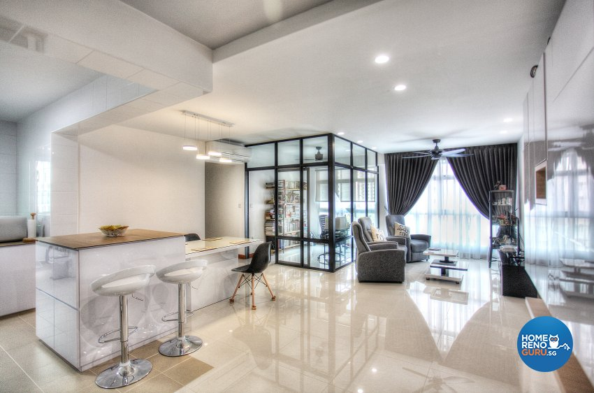 Classical, Contemporary, Scandinavian Design - Living Room - HDB 4 Room - Design by Dreamvision Designer Pte Ltd