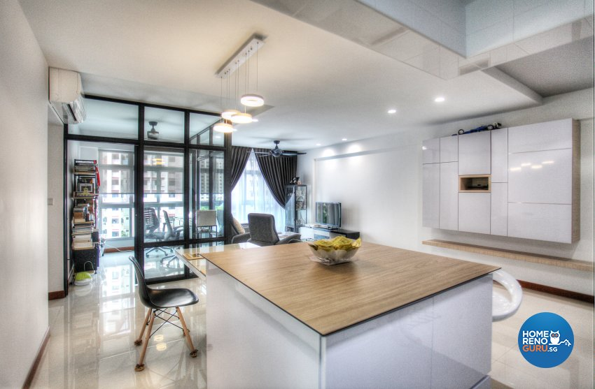 Classical, Contemporary, Scandinavian Design - Kitchen - HDB 4 Room - Design by Dreamvision Designer Pte Ltd