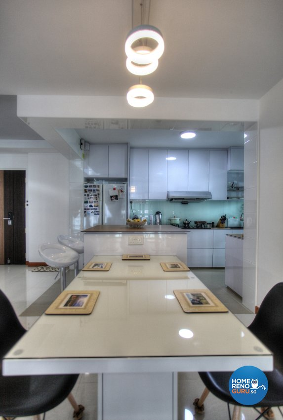 Classical, Contemporary, Scandinavian Design - Dining Room - HDB 4 Room - Design by Dreamvision Designer Pte Ltd