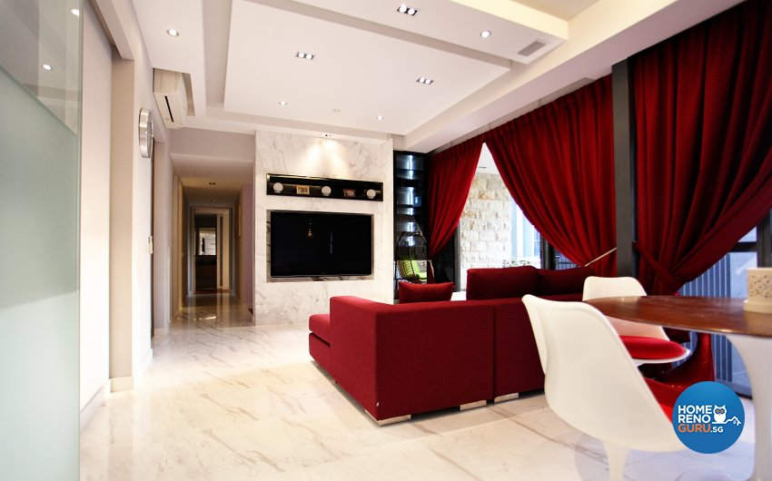 Contemporary, Modern, Scandinavian Design - Living Room - Landed House - Design by Dreamvision Designer Pte Ltd