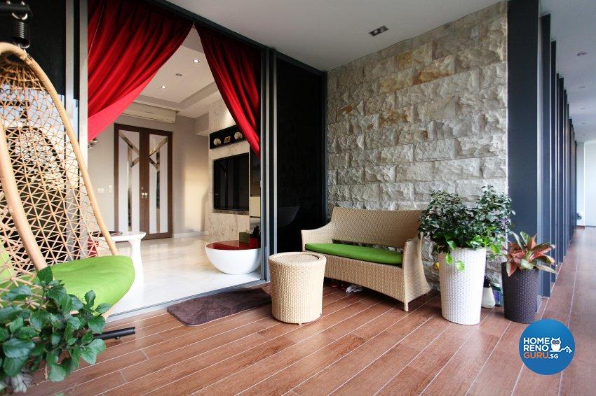 Contemporary, Modern, Scandinavian Design - Balcony - Landed House - Design by Dreamvision Designer Pte Ltd