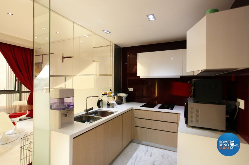 Contemporary, Modern, Scandinavian Design - Kitchen - Landed House - Design by Dreamvision Designer Pte Ltd