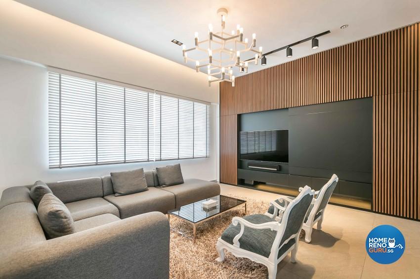 Contemporary Design - Living Room - Condominium - Design by Dreamvision Designer Pte Ltd