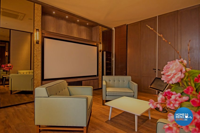 Contemporary, Industrial, Mediterranean Design - Entertainment Room - HDB 5 Room - Design by Dreamvision Designer Pte Ltd