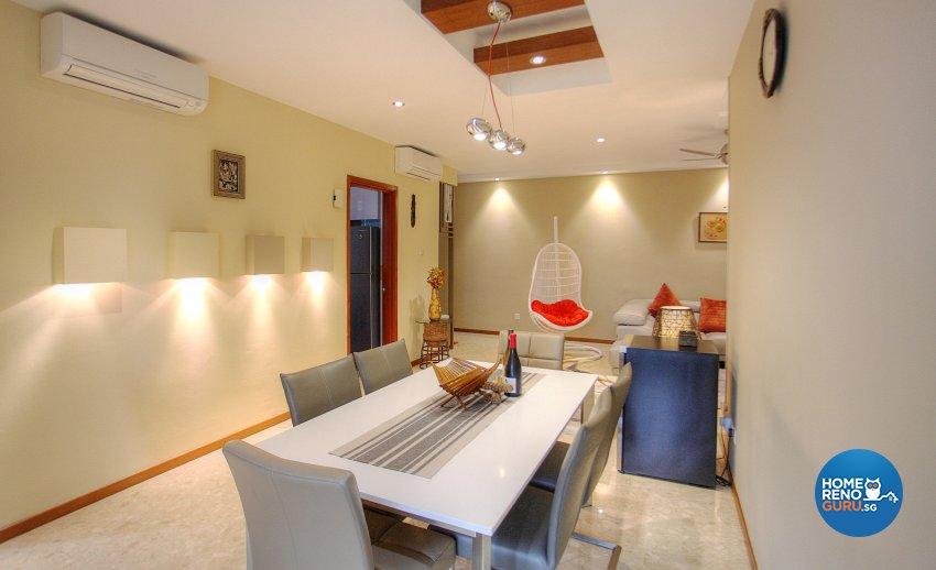 Classical, Contemporary, Scandinavian Design - Dining Room - HDB 5 Room - Design by Dreamvision Designer Pte Ltd