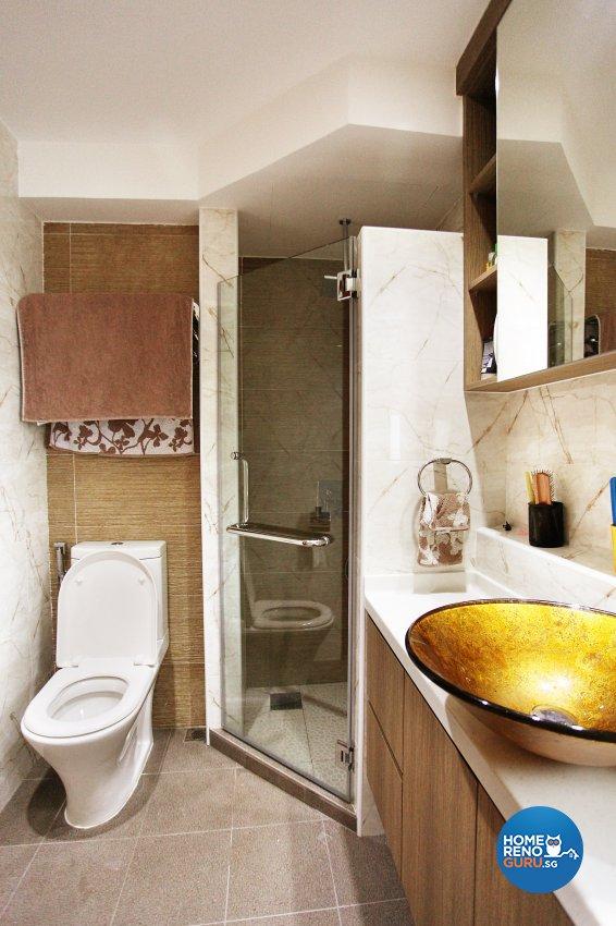 Classical, Contemporary, Scandinavian Design - Bathroom - HDB 5 Room - Design by Dreamvision Designer Pte Ltd