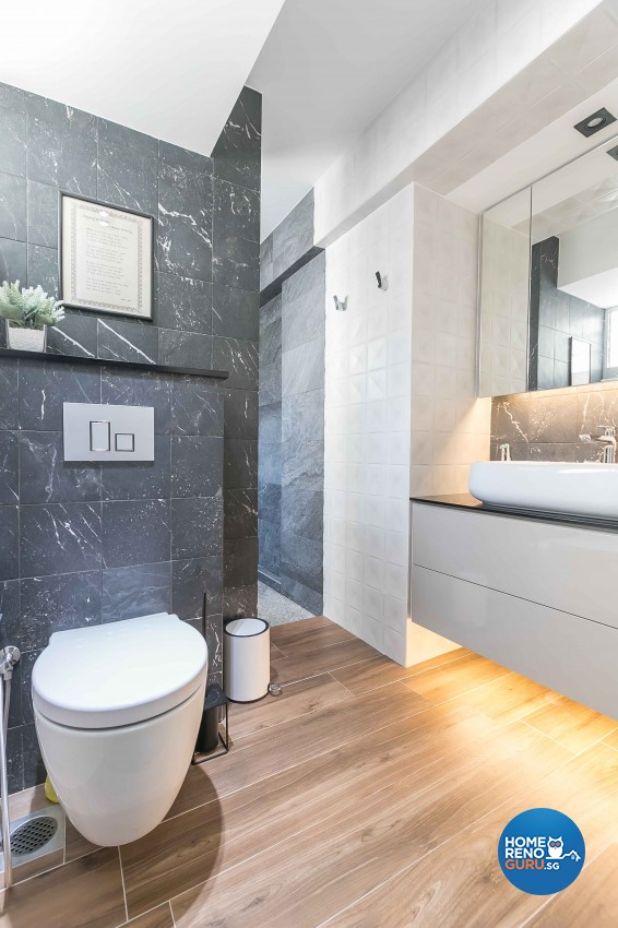 Contemporary, Modern Design - Bathroom - HDB 3 Room - Design by Dreamvision Designer Pte Ltd