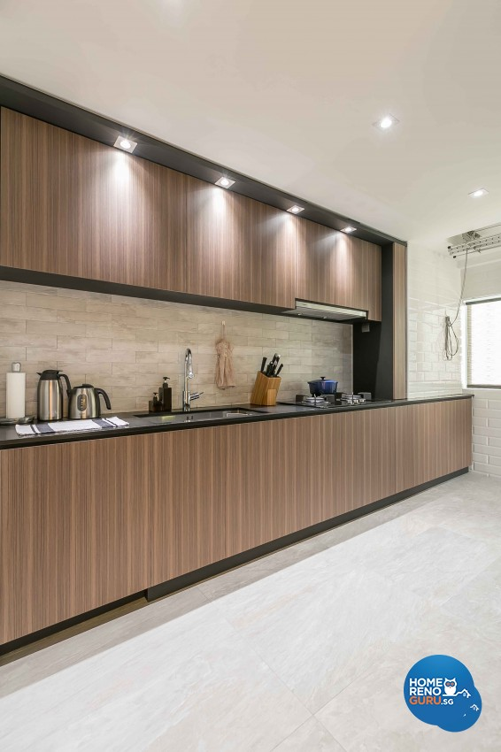 Contemporary, Modern Design - Kitchen - HDB 3 Room - Design by Dreamvision Designer Pte Ltd