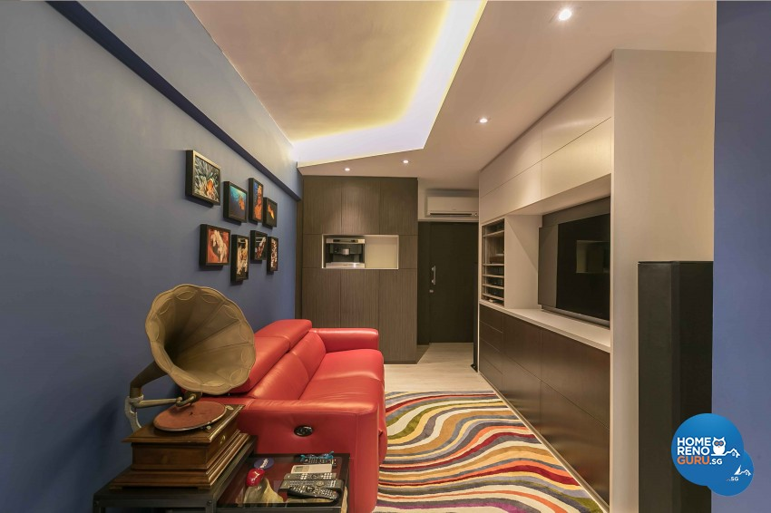 Contemporary, Modern Design - Living Room - HDB 3 Room - Design by Dreamvision Designer Pte Ltd