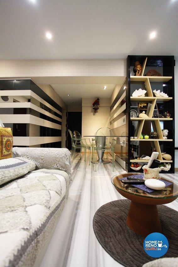 Eclectic, Modern Design - Dining Room - HDB 4 Room - Design by Dreamvision Designer Pte Ltd