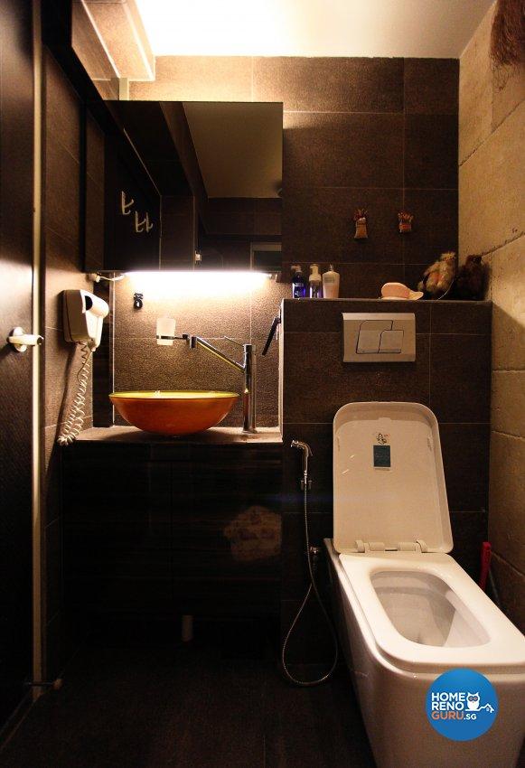 Eclectic, Modern Design - Bathroom - HDB 4 Room - Design by Dreamvision Designer Pte Ltd