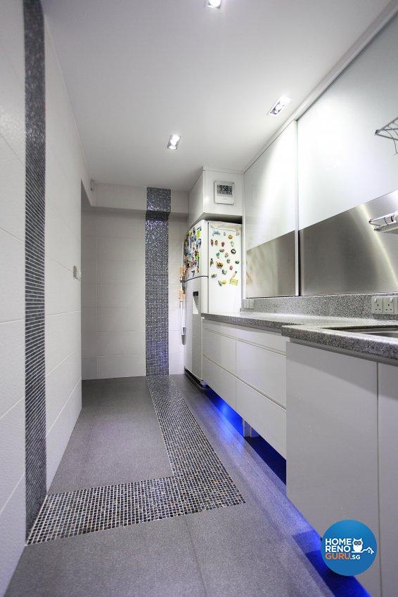 Eclectic, Modern Design - Kitchen - HDB 4 Room - Design by Dreamvision Designer Pte Ltd
