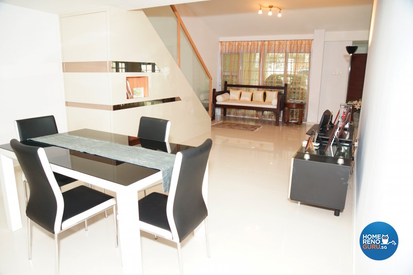 Contemporary, Minimalist Design - Living Room - Landed House - Design by Dreamvision Designer Pte Ltd
