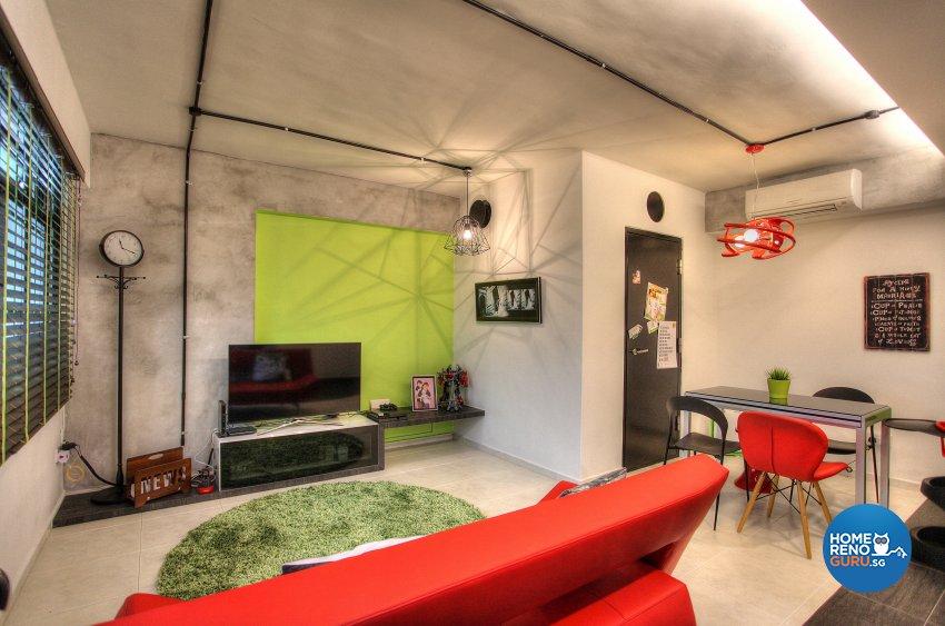 Contemporary, Eclectic, Modern Design - Living Room - HDB 5 Room - Design by Dreamvision Designer Pte Ltd
