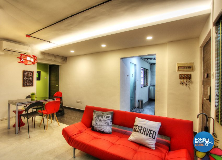Contemporary, Eclectic, Modern Design - Living Room - HDB 5 Room - Design by Dreamvision Designer Pte Ltd