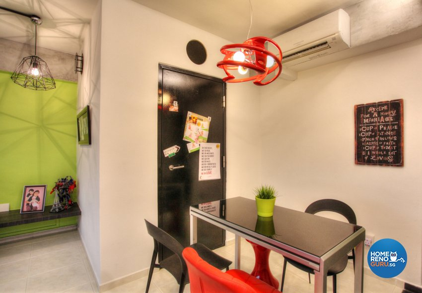 Contemporary, Eclectic, Modern Design - Dining Room - HDB 5 Room - Design by Dreamvision Designer Pte Ltd
