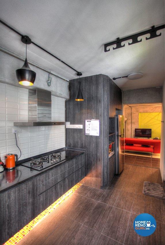 Contemporary, Eclectic, Modern Design - Kitchen - HDB 5 Room - Design by Dreamvision Designer Pte Ltd