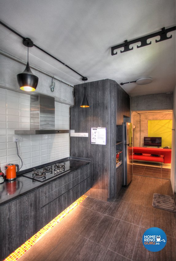 Contemporary, Eclectic, Modern Design - Kitchen - HDB 5 Room - Design by Dreamvision Designer Pte Ltd