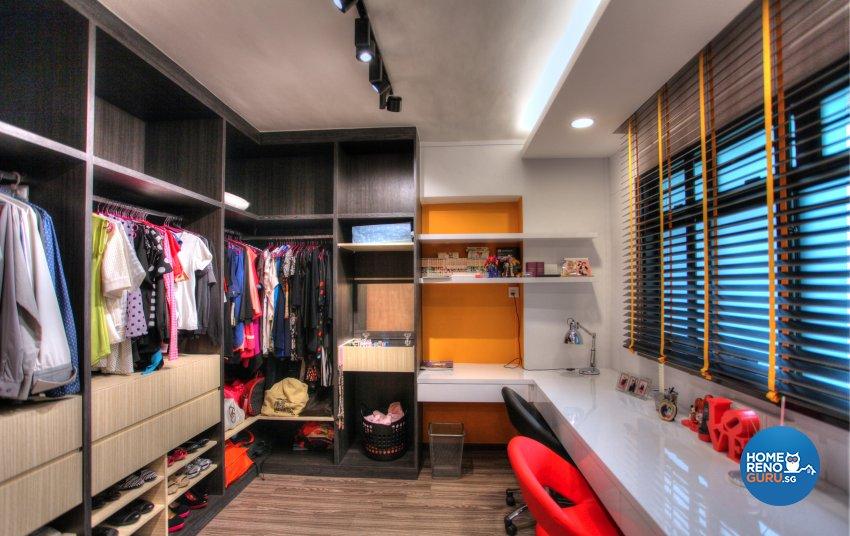 Contemporary, Eclectic, Modern Design - Bedroom - HDB 5 Room - Design by Dreamvision Designer Pte Ltd