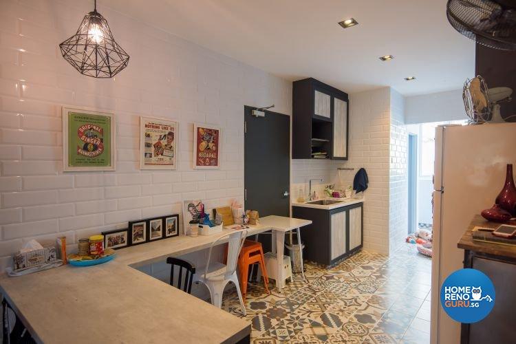 Retro Design - Dining Room - Condominium - Design by Dreamvision Designer Pte Ltd