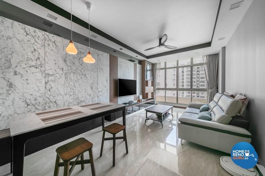 Modern Design - Dining Room - Condominium - Design by Dreamvision Designer Pte Ltd
