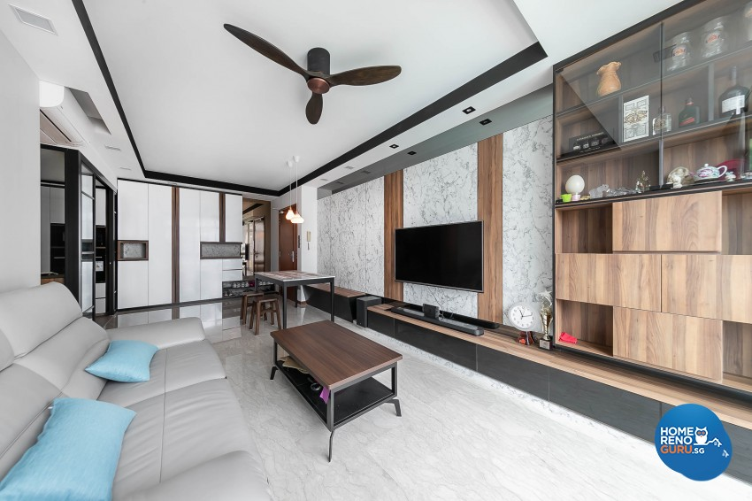 Modern Design - Living Room - Condominium - Design by Dreamvision Designer Pte Ltd