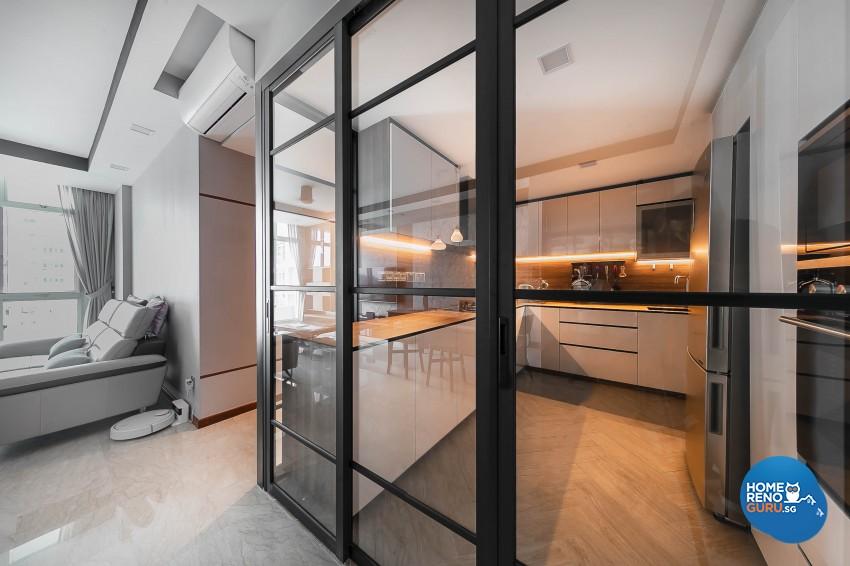 Modern Design - Kitchen - Condominium - Design by Dreamvision Designer Pte Ltd