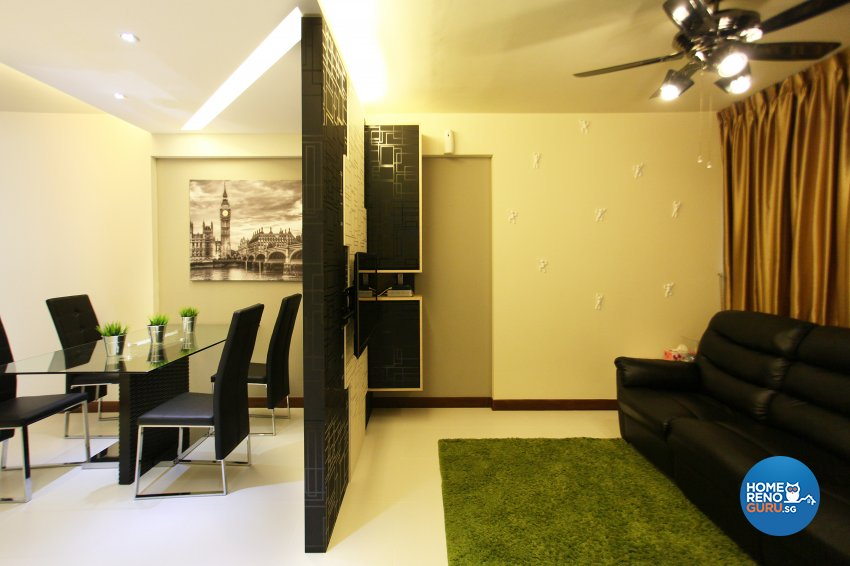 Contemporary, Modern, Oriental Design - Living Room - HDB 5 Room - Design by Dreamvision Designer Pte Ltd