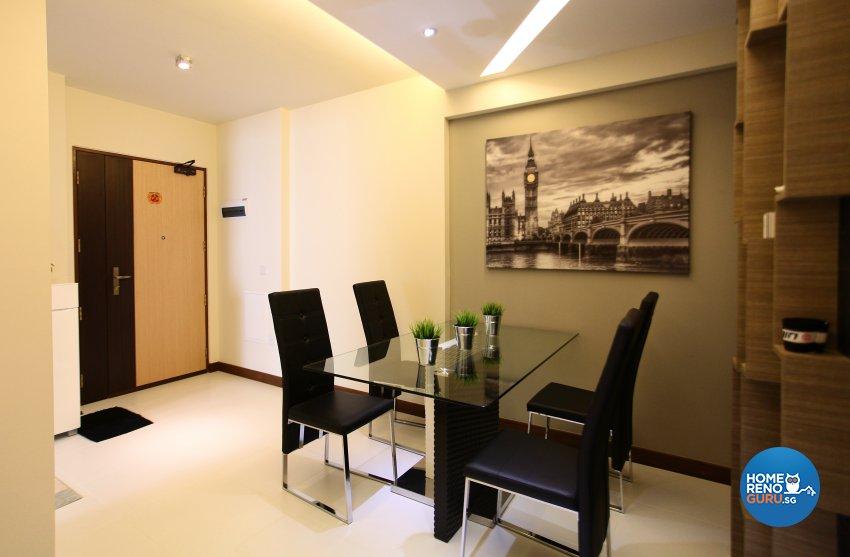 Contemporary, Modern, Oriental Design - Dining Room - HDB 5 Room - Design by Dreamvision Designer Pte Ltd