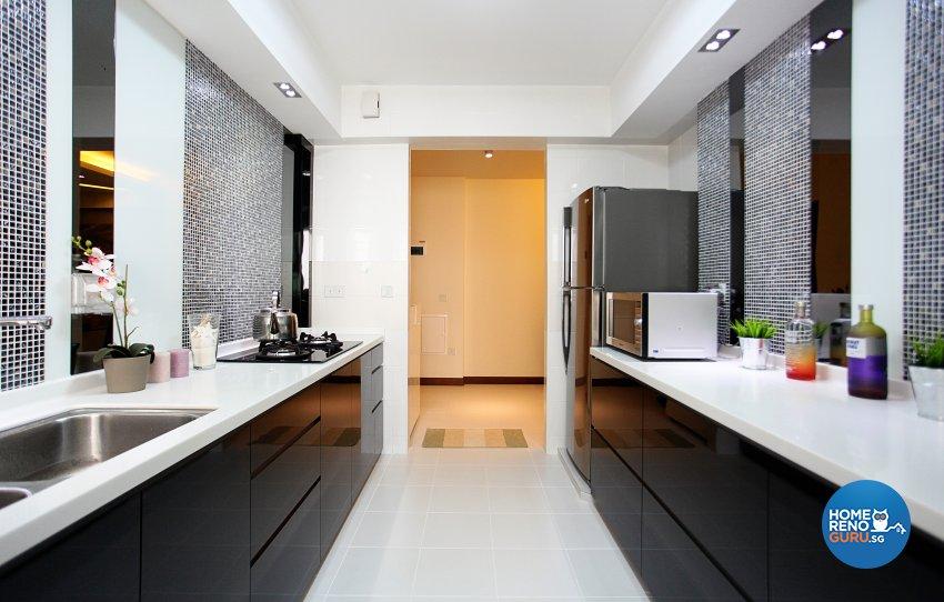 Contemporary, Modern, Oriental Design - Kitchen - HDB 5 Room - Design by Dreamvision Designer Pte Ltd