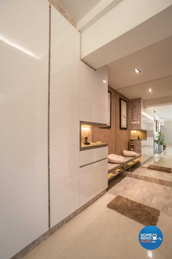 Modern Design - Living Room - HDB 5 Room - Design by Dreamvision Designer Pte Ltd