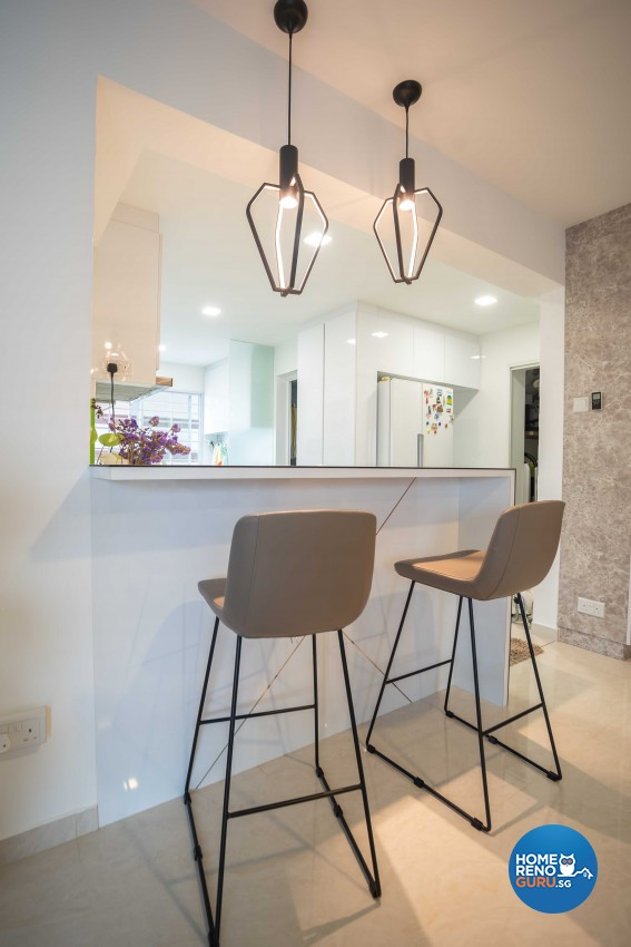 Modern Design - Dining Room - HDB 5 Room - Design by Dreamvision Designer Pte Ltd