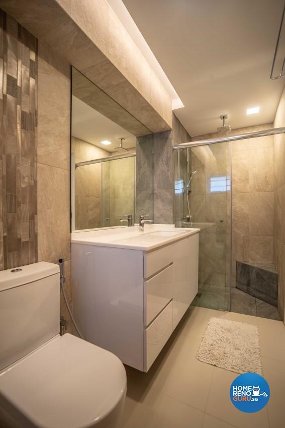 Modern Design - Bathroom - HDB 5 Room - Design by Dreamvision Designer Pte Ltd