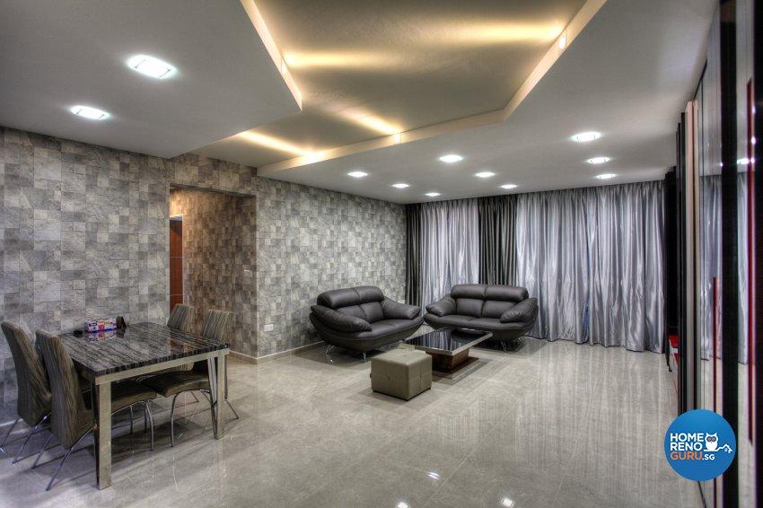 Contemporary, Modern Design - Living Room - HDB 5 Room - Design by Dreamvision Designer Pte Ltd