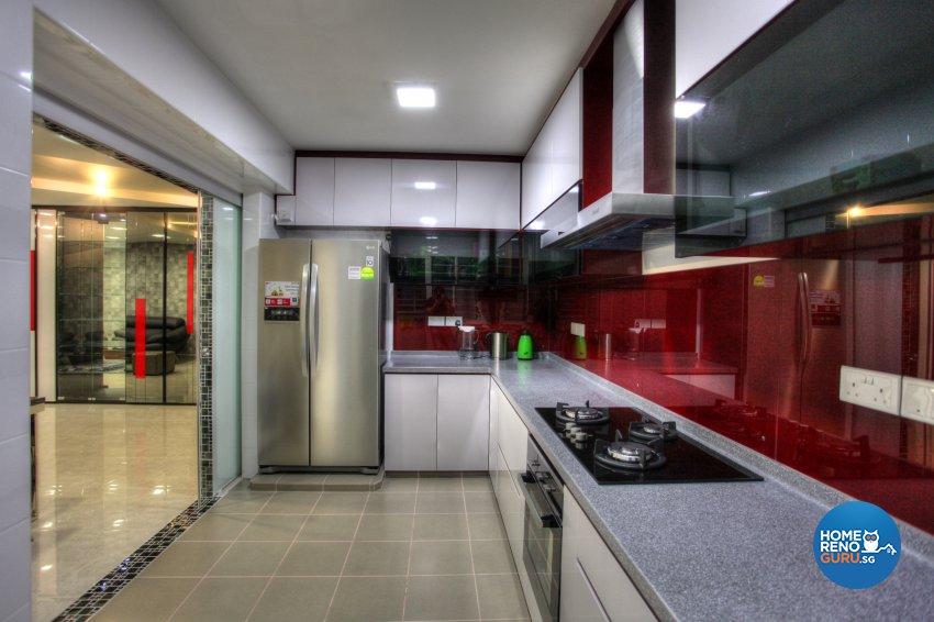 Contemporary, Modern Design - Kitchen - HDB 5 Room - Design by Dreamvision Designer Pte Ltd