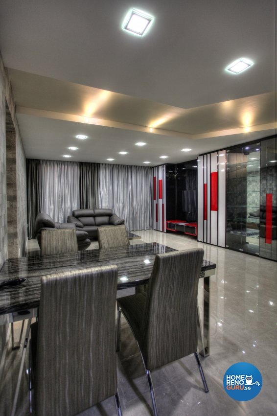 Contemporary, Modern Design - Dining Room - HDB 5 Room - Design by Dreamvision Designer Pte Ltd
