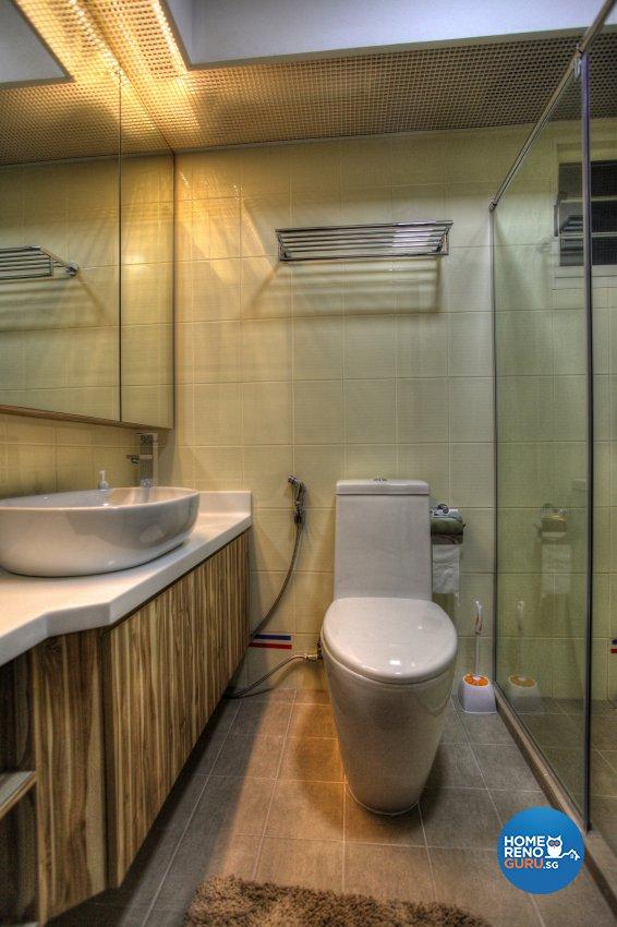 Contemporary, Modern Design - Bathroom - HDB 5 Room - Design by Dreamvision Designer Pte Ltd