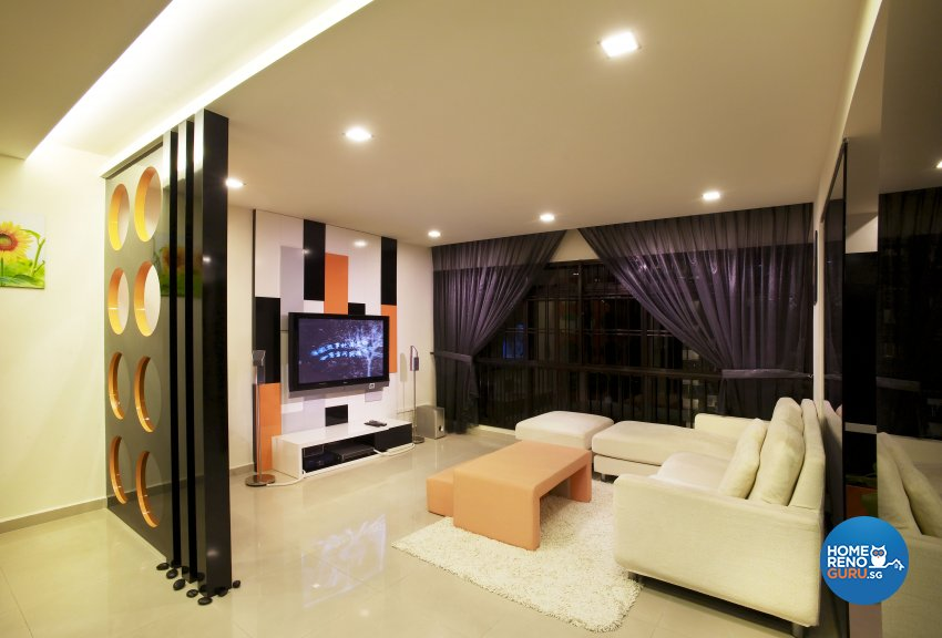Eclectic, Modern Design - Living Room - HDB 5 Room - Design by Dreamvision Designer Pte Ltd