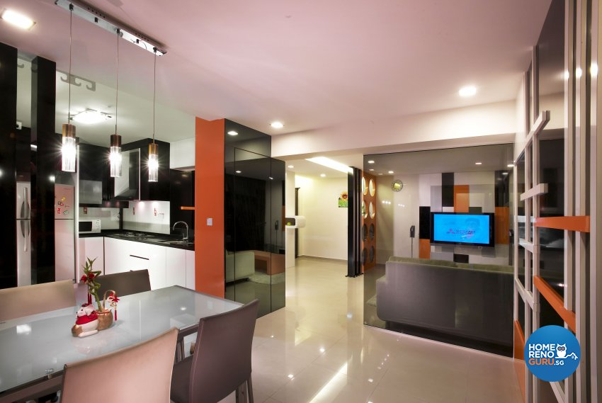 Eclectic, Modern Design - Dining Room - HDB 5 Room - Design by Dreamvision Designer Pte Ltd