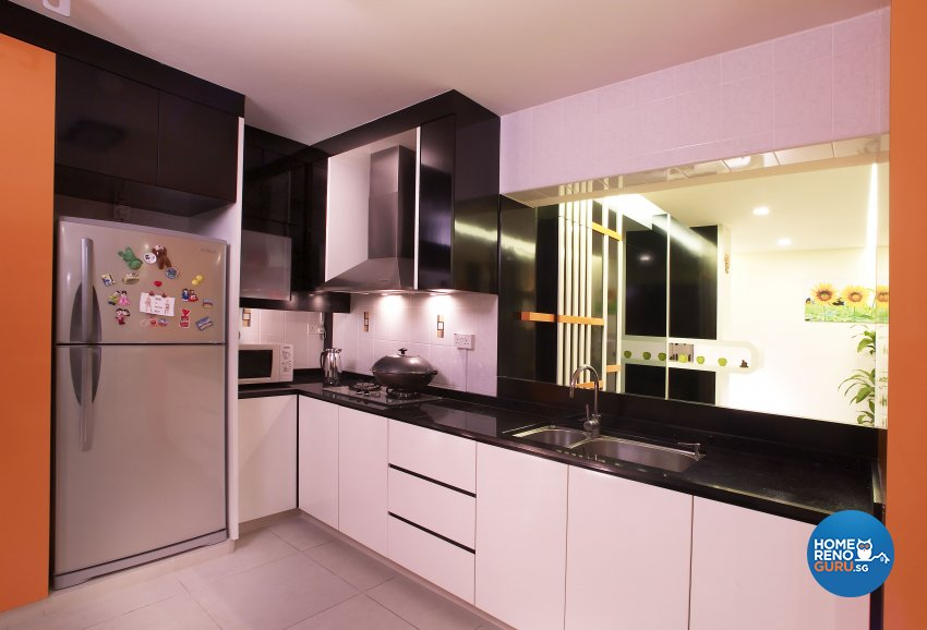 Eclectic, Modern Design - Kitchen - HDB 5 Room - Design by Dreamvision Designer Pte Ltd