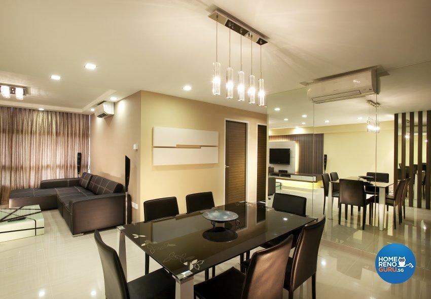 Contemporary, Modern, Scandinavian Design - Dining Room - HDB 5 Room - Design by Dreamvision Designer Pte Ltd